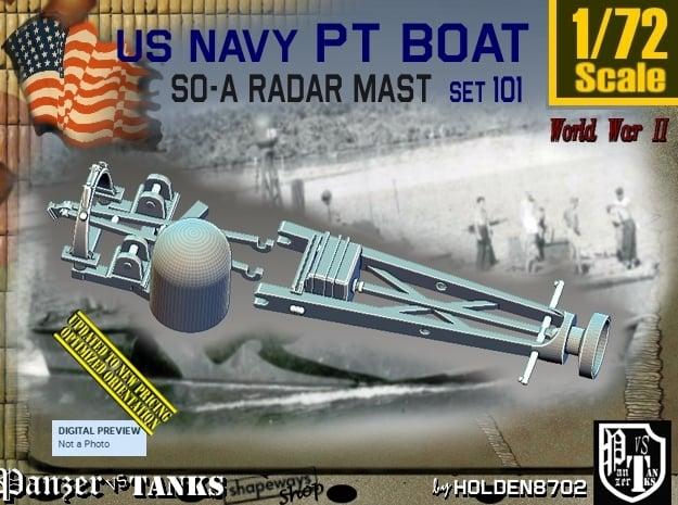 1/72 PT Boat SO-A Radar Mast set101 in Smooth Fine Detail Plastic
