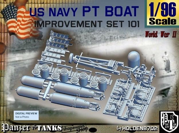 1/96 PT Boat Improvement Set101 in Smooth Fine Detail Plastic