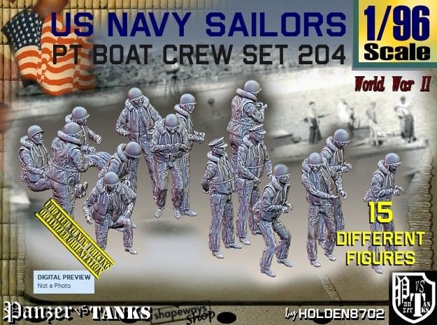 1/96 USN PT Crew set 204 in Smooth Fine Detail Plastic