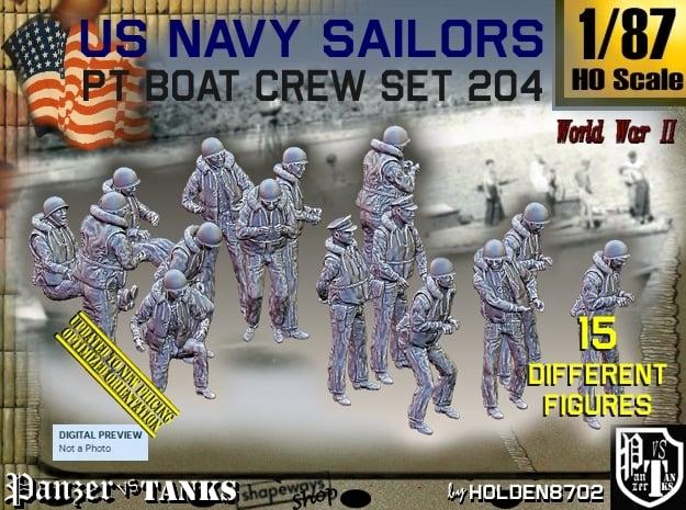 1/87 USN PT Crew set 204 in Smooth Fine Detail Plastic