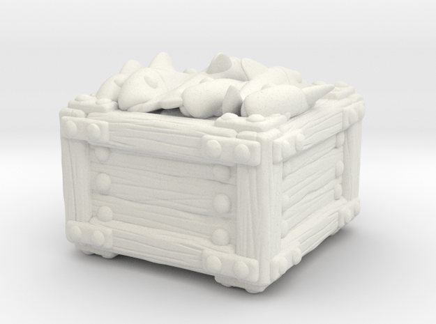 Fish Crate A in White Natural Versatile Plastic