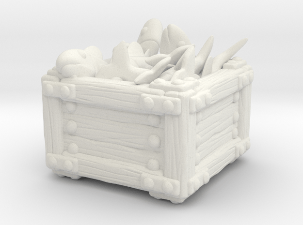 Fish Crate B in White Natural Versatile Plastic
