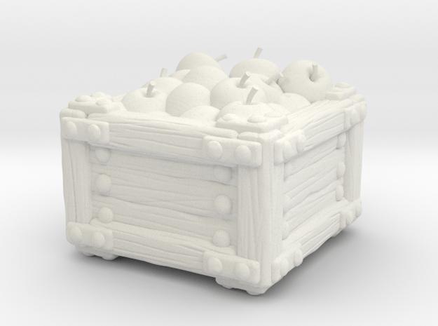 Apple Crate A in White Natural Versatile Plastic