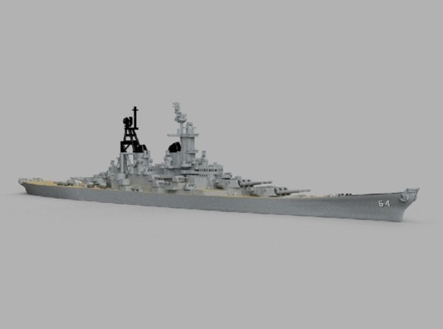 1/1800 USS Wisconsin 1956 in Smooth Fine Detail Plastic