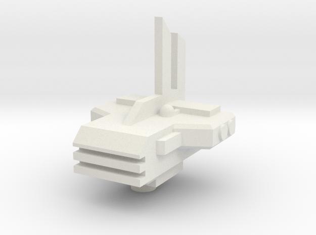 Xel Dreadnought bridge 2 in White Natural Versatile Plastic