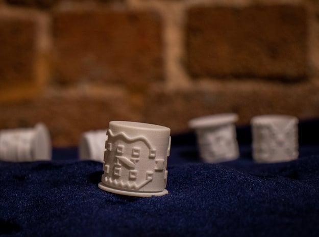 Small Maze Puzzle Box in White Processed Versatile Plastic