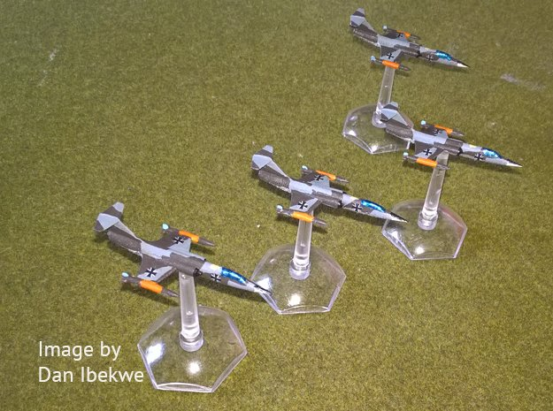 4x 1/350 F-104 Starfighter with Gear Up in Smooth Fine Detail Plastic
