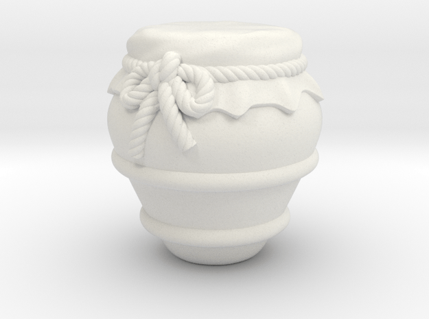 Jar A in White Natural Versatile Plastic
