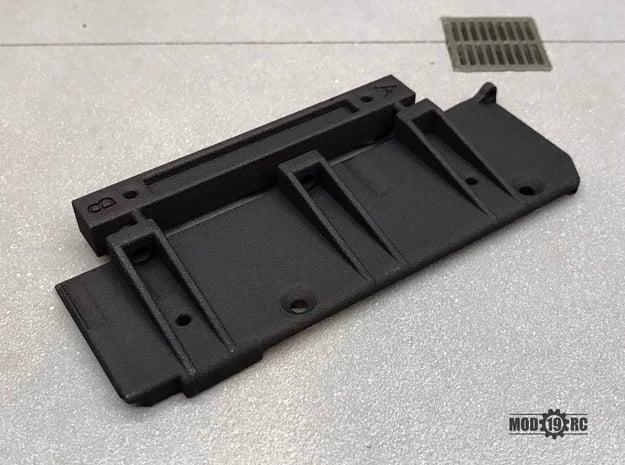 Left Side Mojave II 2-door Mount Set SCX10ii in Black Natural Versatile Plastic
