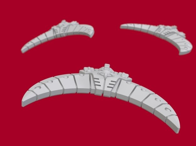 Anubis Fighter Set in White Natural Versatile Plastic: Medium