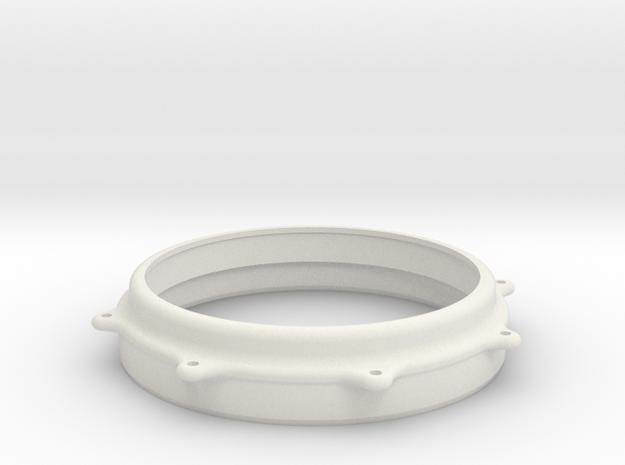 BASS TOM HOOP V2 in White Natural Versatile Plastic