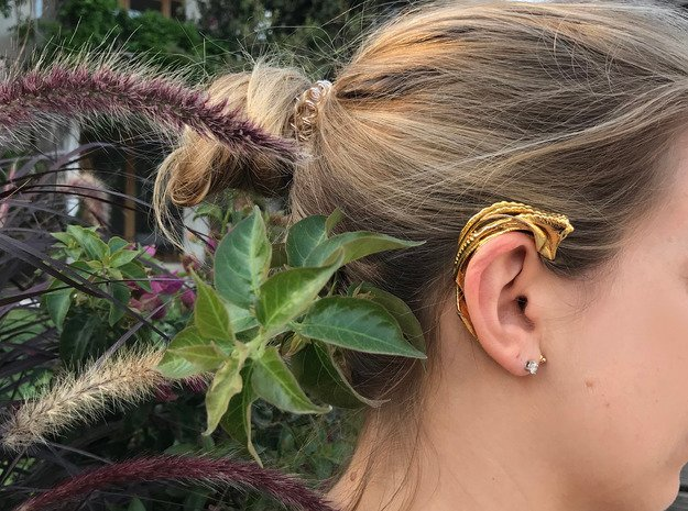 Foreign Fauna 2.0 Earcuff in 14k Gold Plated Brass