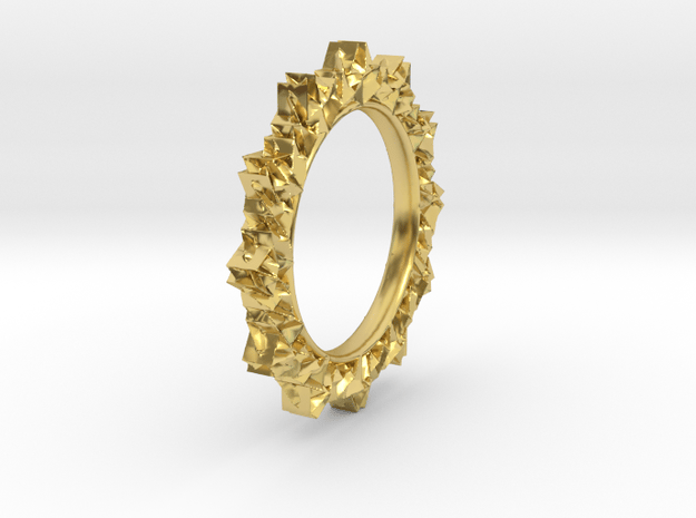 light Reflecting Ring - small in Polished Brass