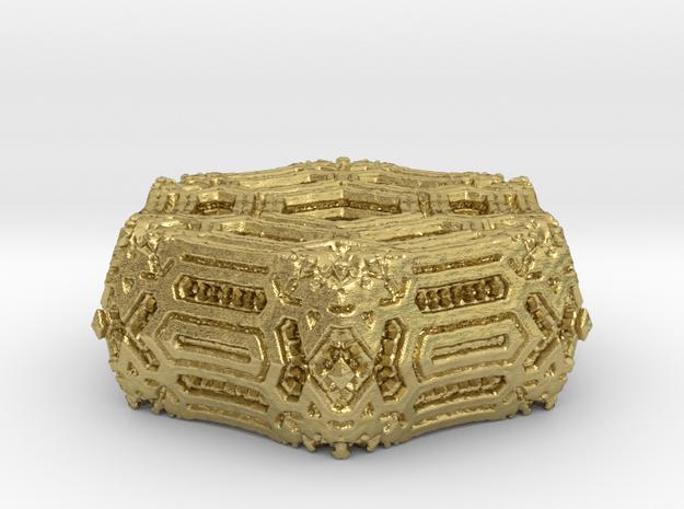 Alien Ornament.02 in Natural Brass