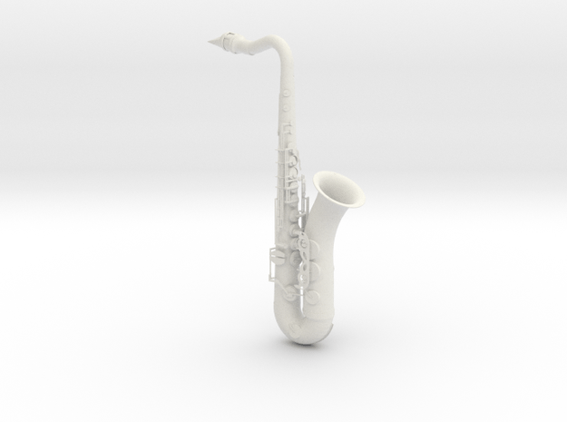 1/3rd Scale Saxophone in White Natural Versatile Plastic