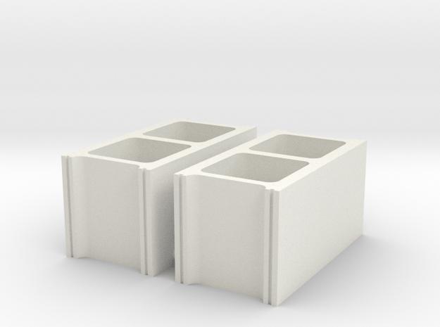 cinder blocks 1/8 pr in White Natural Versatile Plastic