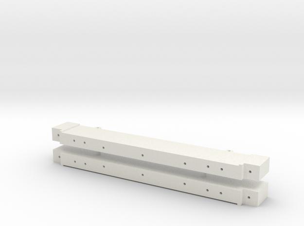 archbar swing link truck crossbeam assembly in White Natural Versatile Plastic