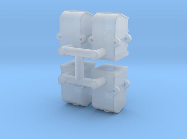 Flip top axlebox x4 in Smooth Fine Detail Plastic