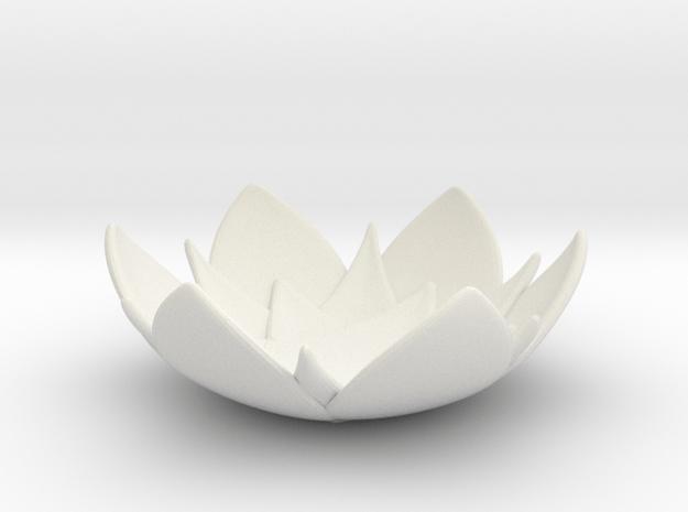Lotus Bowl in White Natural Versatile Plastic
