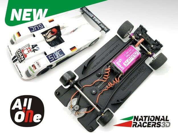 3D Chassis - Arrow Slot V12 (Inline - AiO) in Black Natural Versatile Plastic