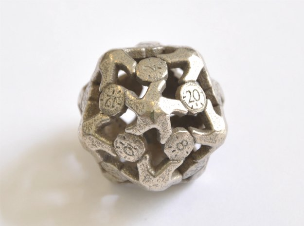 D20 Balanced - Starfish in Polished Bronzed Silver Steel