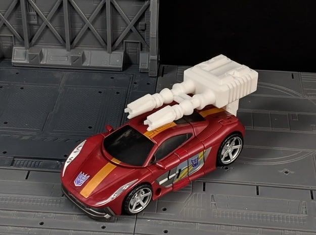 TF Combiner Wars Dead End Car Cannon in White Natural Versatile Plastic