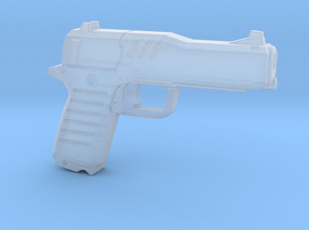 cyberpunk - near future pistol in 1/6 scale in Smooth Fine Detail Plastic