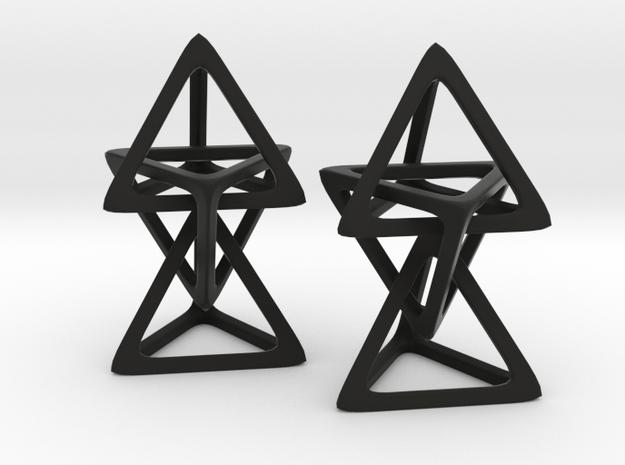 Hanging Tetrahedron in Black Natural Versatile Plastic
