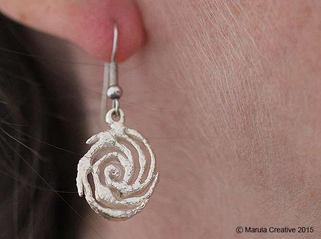 Galaxy Earring in Natural Silver