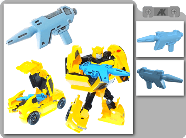 TR Bumblebee Blaster in Smooth Fine Detail Plastic