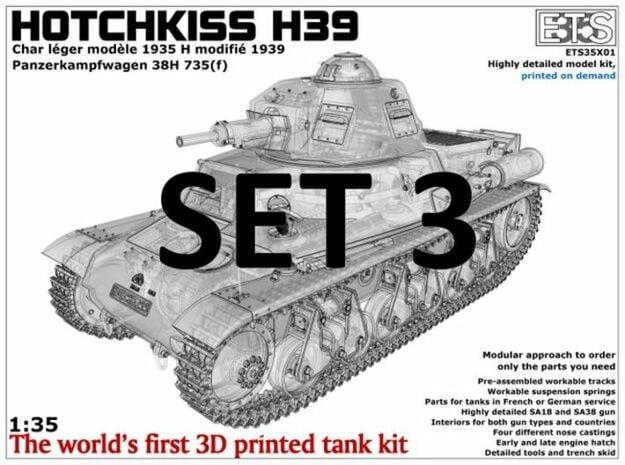ETS35X01 Hotchkiss H39 - Set 3 - Tracks in Smoothest Fine Detail Plastic