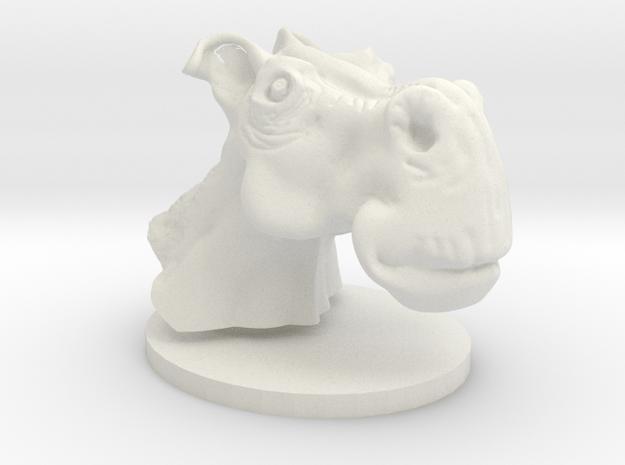 Horse head toon in White Natural Versatile Plastic
