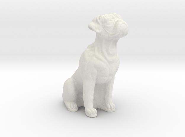 Boxer dog in White Natural Versatile Plastic