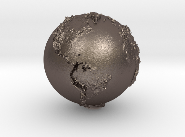 Metal ground with relief proportioned in Polished Bronzed-Silver Steel