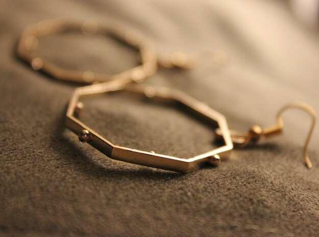 Miesha Earrings in Natural Brass