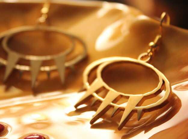 Kyra Earrings in Polished Brass