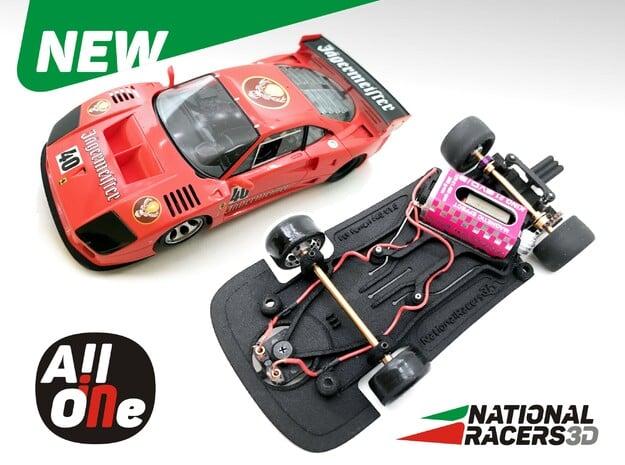 3D Chassis - Fly Ferrari F40 Anglewinder AllinOne in Black Natural Versatile Plastic