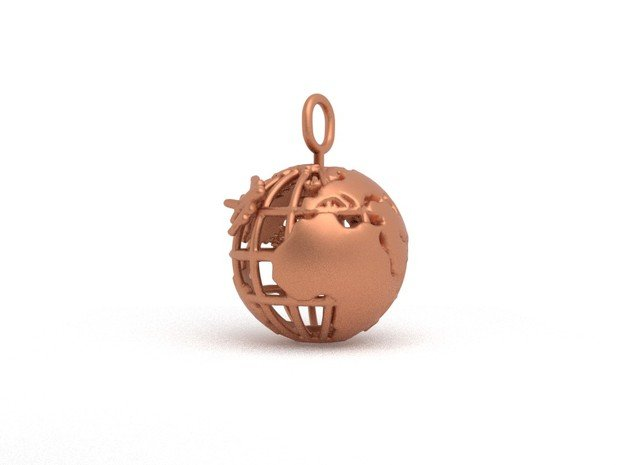 Earth Spinning Turtle in Natural Bronze (Interlocking Parts)