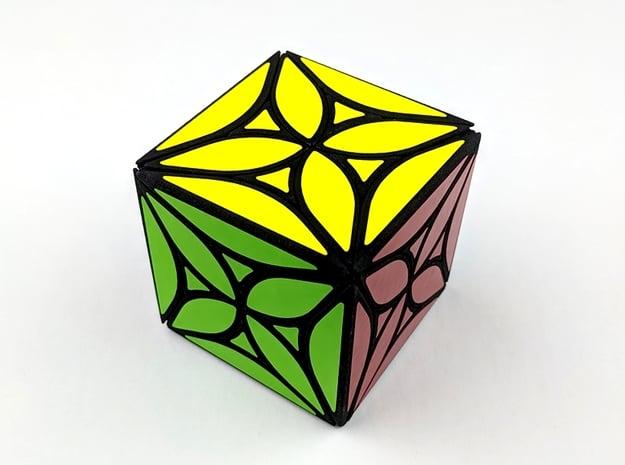 Collider Cube in White Natural Versatile Plastic