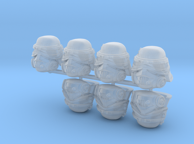 Filthy Bucketheads (x7) in Smoothest Fine Detail Plastic