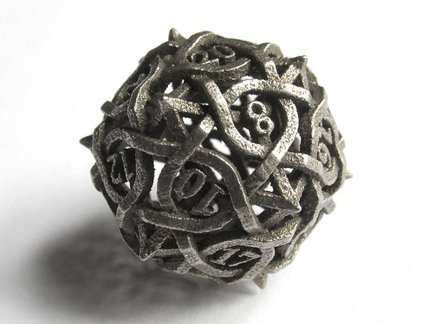 Interwoven Geometric Vines and Thorns D20