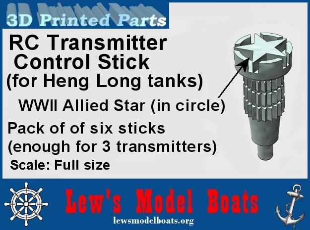 Heng Long R/C tank transmitter stick (Allied) in White Natural Versatile Plastic