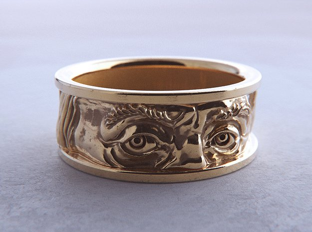Franklin Ring in 18k Gold Plated Brass: 12 / 66.5