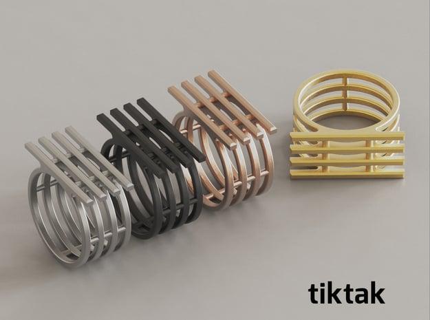 TIK TAK in Rhodium Plated Brass: 7 / 54
