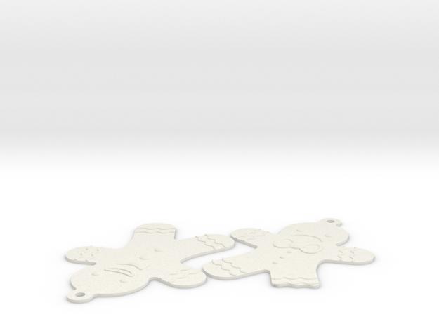 Gingerbread Man in White Natural Versatile Plastic