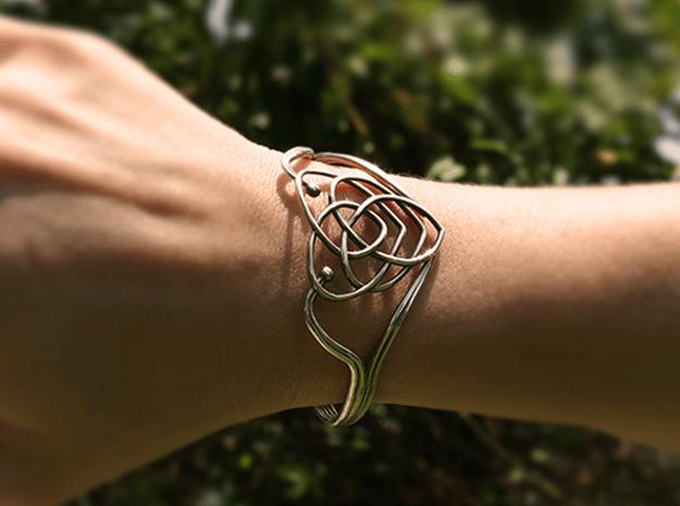 Celtic Motherhood Knot Braclet in Natural Silver