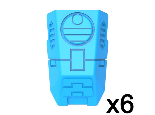 Special Ops Shoulder Pads Delta 2 in Smooth Fine Detail Plastic
