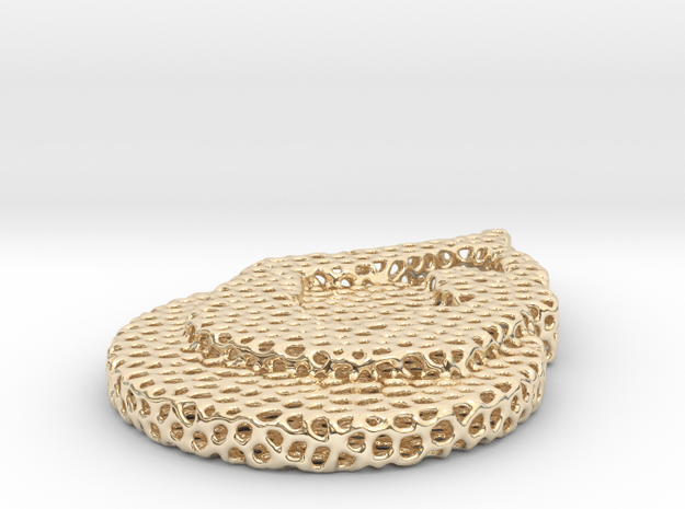 1_voronoi yoga in 14k Gold Plated Brass