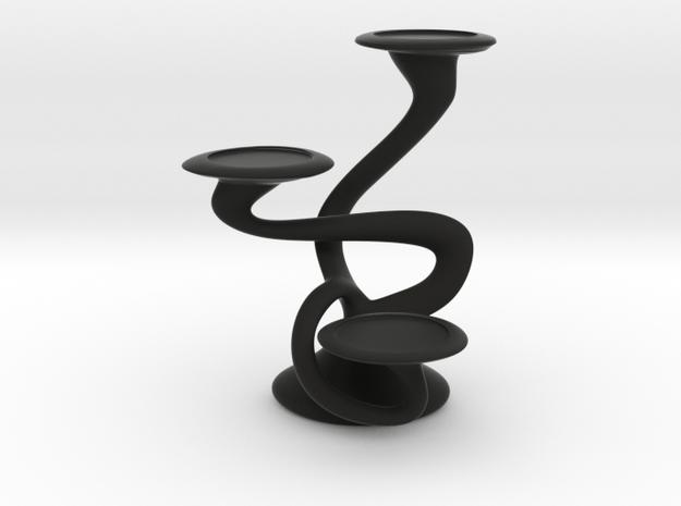 "Tripla Candelabra - Votive (1.5"") Candle in Black Natural Versatile Plastic"