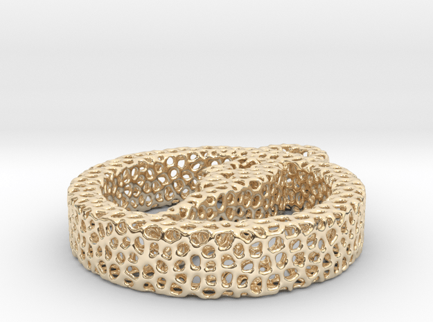 1at_voronoi yoga in 14k Gold Plated Brass